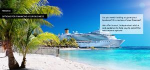 Finance home image with cruise ship in background