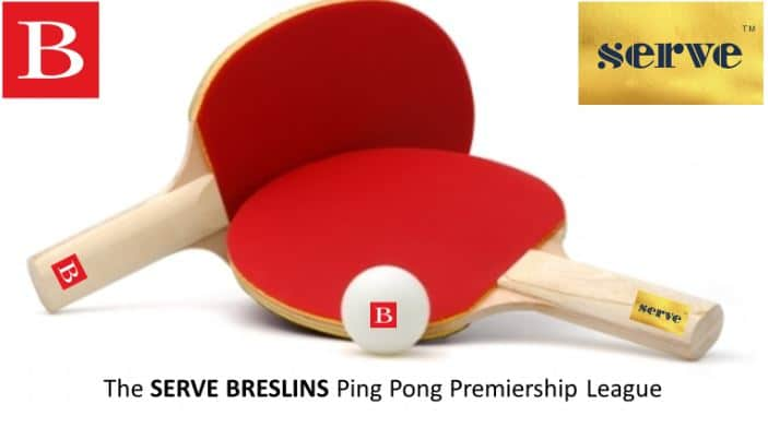red ping pong rackets with ball