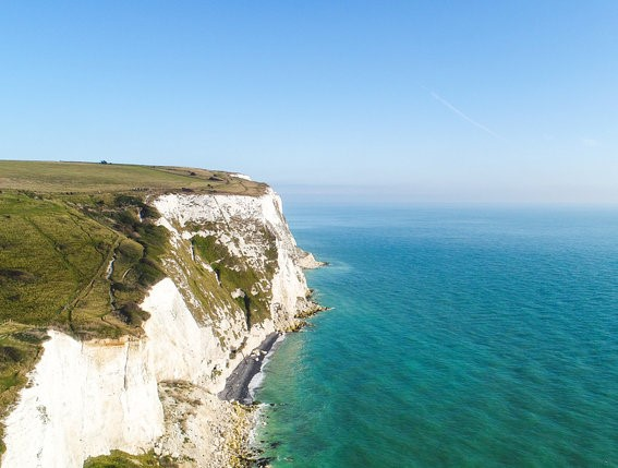 No deal brexit - what about VAT? vat returns . image of cliff edge and sea