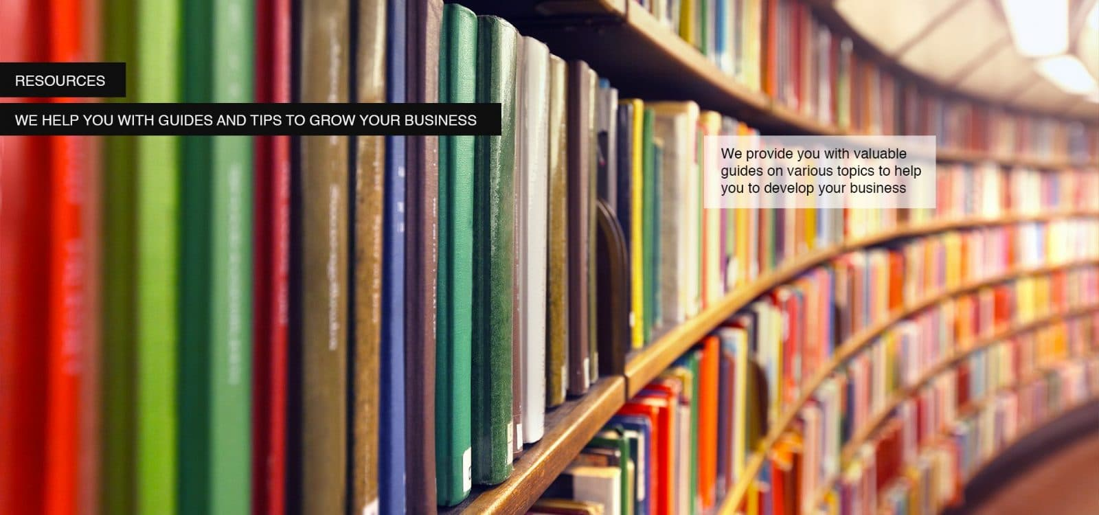 business resources - row of books