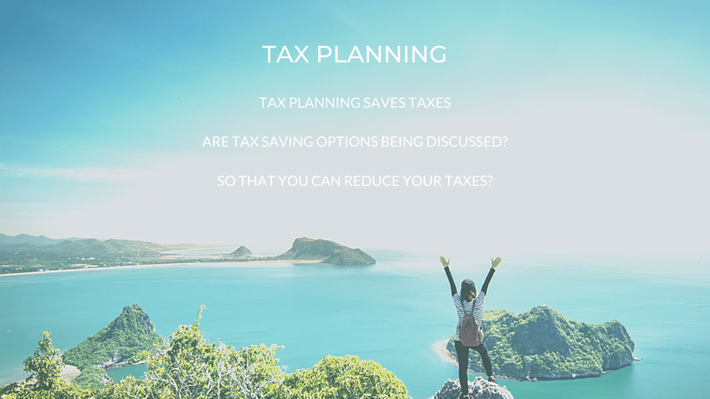 tax planning poster with sea view 2